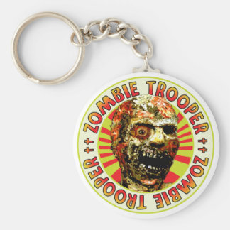 Zombie Trooper Basic Round Button Key Ring