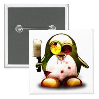 Zombie Tux (Linux Tux) 15 Cm Square Badge