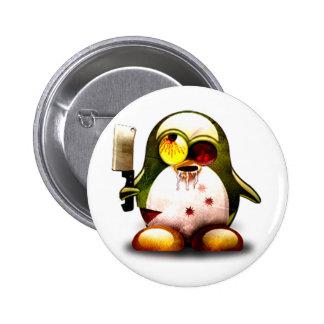 Zombie Tux (Linux Tux) 6 Cm Round Badge
