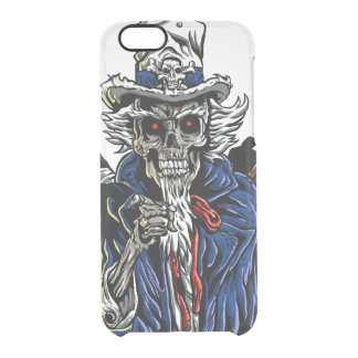 Zombie Uncle Sam Clear iPhone 6/6S Case