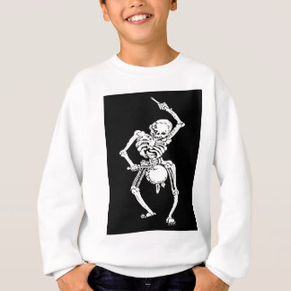 Zombie Undead Skeleton Marching and Beating A Drum Sweatshirt