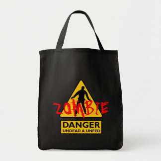 Zombie Undead & Unfed Grocery Tote Bag