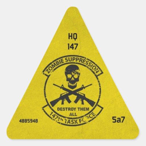 Zombie Unit ID Sticker 147th HQ