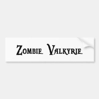 Zombie Valkyrie Bumper Sticker