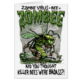 Zombie Virus add Bee equals Zombee Greeting Card