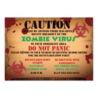Zombie Virus Halloween Party Invitation