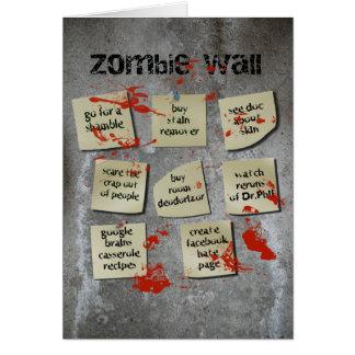 Zombie Wall Card