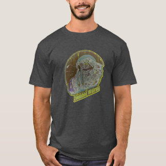 Zombie Walrus Original-Distressed Look Lime Green T-Shirt