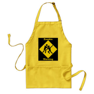 Zombie Warning Road Sign Standard Apron