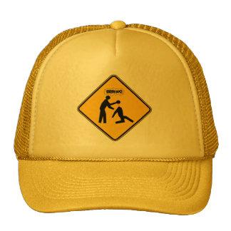 Zombie Warning Sign Mesh Hat
