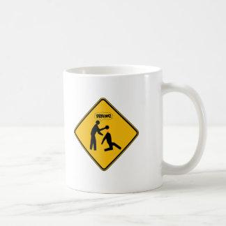 Zombie Warning Sign Mug