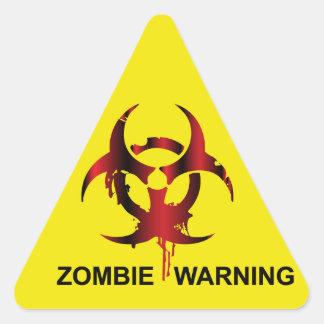 Zombie Warning Triangle Sticker