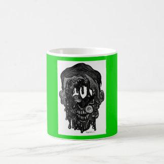 zombie whith hole in face basic white mug