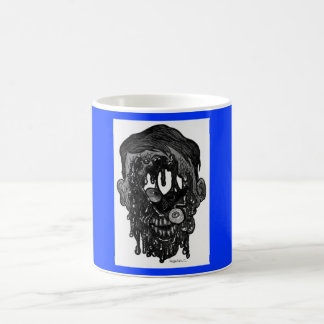 zombie whith hole in face coffee mugs