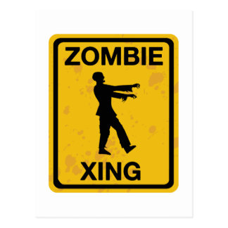 Zombie Xing Postcard