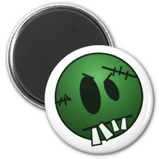 ZOMBIECON FACE - GREEN 6 CM ROUND MAGNET