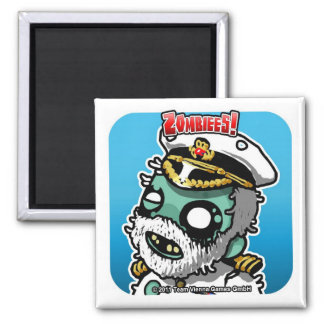 Zombiees! Captain Zmith Square Magnet