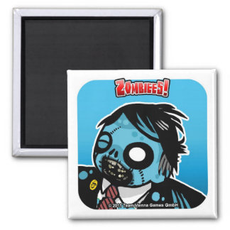 Zombiees! Dean Of Death Square Magnet