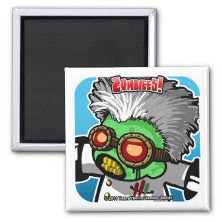 Zombiees! Dr. Quastapopulous Square Magnet