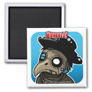 Zombiees! Dr. Zombassus Square Magnet