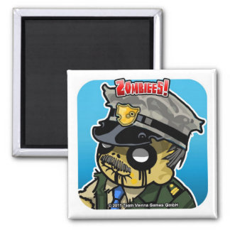 Zombiees! Sheriff Truman Square Magnet