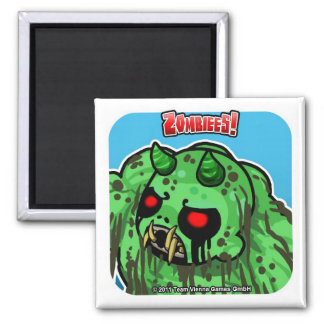 Zombiees! The Zwamp Demon Square Magnet