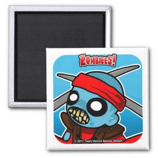 Zombiees! Zattori Hanzo Square Magnet