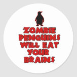 ZombiePenguins Classic Round Sticker