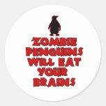 ZombiePenguins Round Stickers
