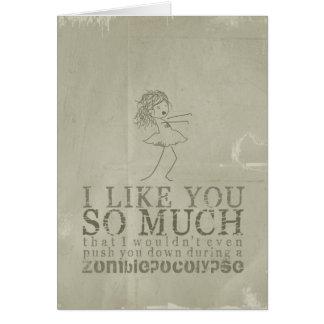 Zombiepocolopyse Love Card