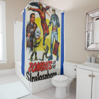 zombies 1 png shower curtain