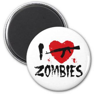 Zombies 6 Cm Round Magnet