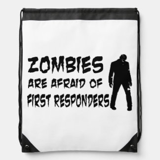 Zombies Are Afraid Of First Responders String Bag Drawstring Bag