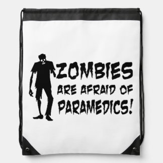 Zombies Are Afraid Of Paramedics String Backpack