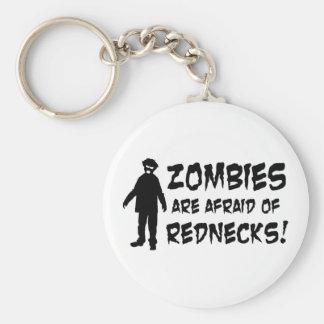 Zombies Are Afraid of Rednecks Key Chain
