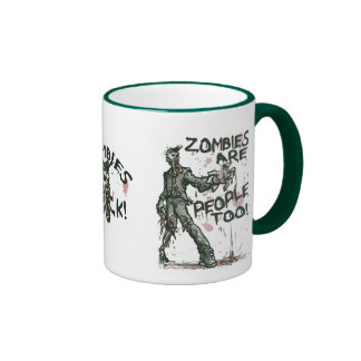 Zombies are People too Gear Ringer Mug