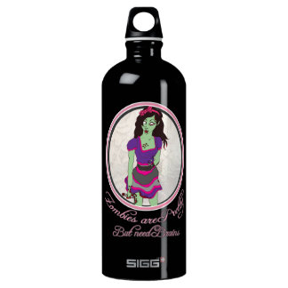 Zombies are pretty, but need brains- Waterbottle SIGG Traveller 1.0L Water Bottle