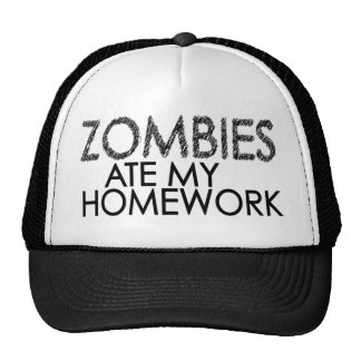 Zombies at my Homework Mesh Hat