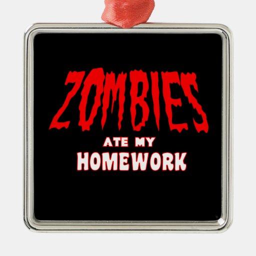 Zombies Ate My Homework Christmas Tree Ornament