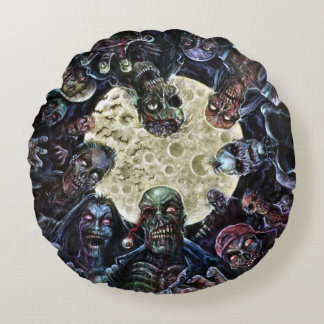 Zombies Attack (Zombie Horde) Round Cushion