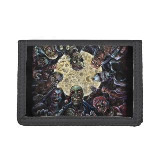 Zombies Attack (Zombie Horde) Trifold Wallets