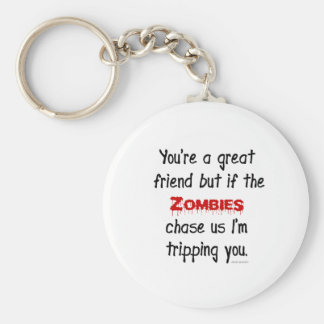 Zombies Basic Round Button Key Ring