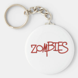 Zombies! Basic Round Button Key Ring
