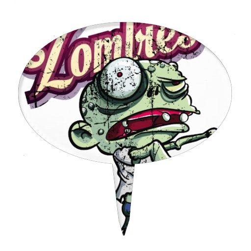 Zombies eat Brains Cake Picks