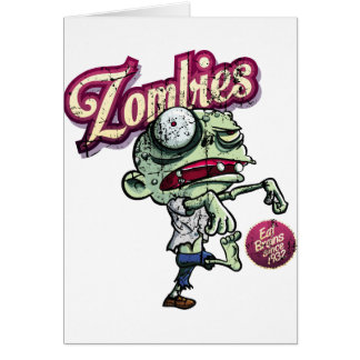 Zombies eat Brains Card