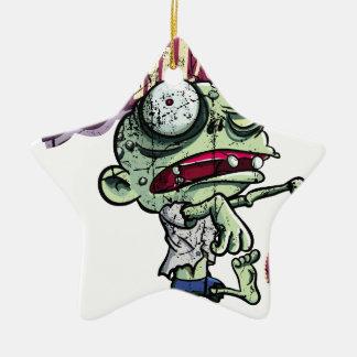Zombies eat Brains Ceramic Star Decoration