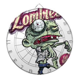 Zombies eat Brains Dartboard With Darts