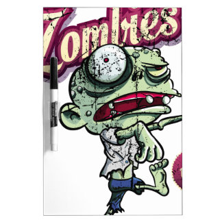Zombies eat Brains Dry-Erase Whiteboard