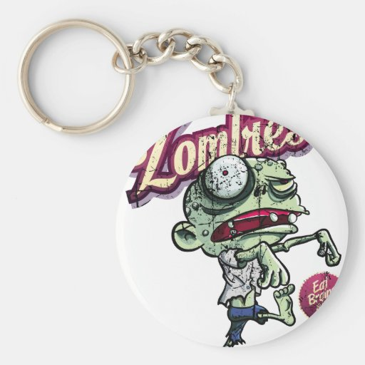 Zombies eat Brains Keychain