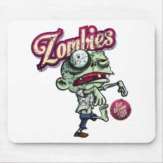 Zombies eat Brains Mousepads